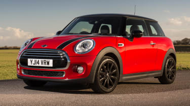 The MINI might be the most expensive car here, but it's also has the most upmarket image