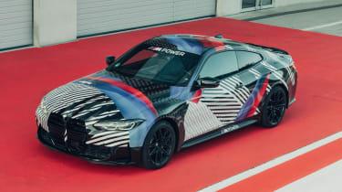 New BMW M4 camouflaged