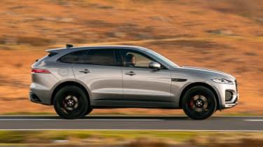 Jaguar F-Pace SUV side driving