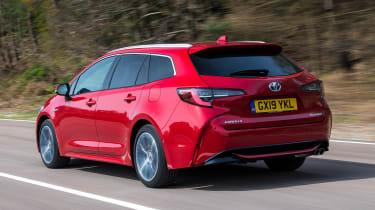 Toyota Corolla Touring Sports estate rear 3/4 tracking