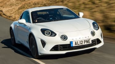 Alpine A110 coupe front tracking