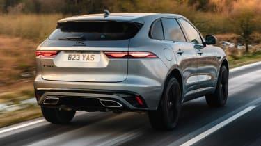 Jaguar F-Pace SUV rear 3/4 tracking