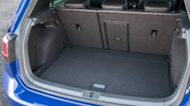 Although the four-wheel drive system means the boot is slightly smaller than front-wheel drive Golf models.
