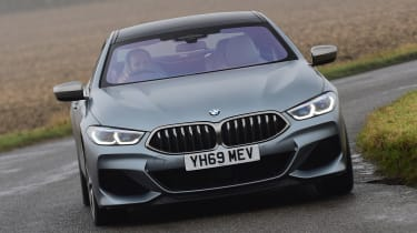 BMW 8 Series Gran Coupe saloon front driving