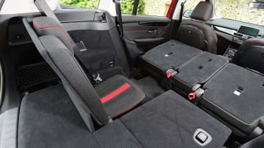 BMW 2 Series Gran Tourer with one rear seat up and the rest folded