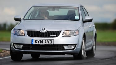 The design of the Octavia is understated but borders on dull. However it does undercut the Golf on which it's based in terms of price and practicality.