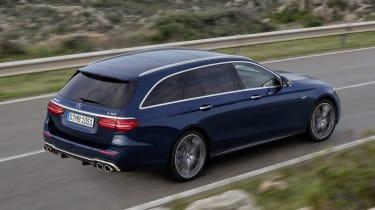 Mercedes-AMG E53 estate driving - rear