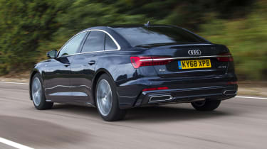 Audi A6 saloon - rear 3/4 view