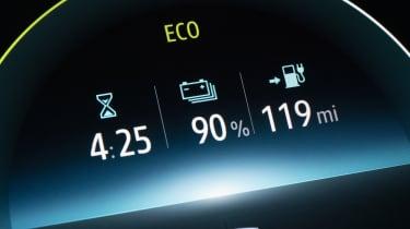 Renault ZOE - digital dial cluster close