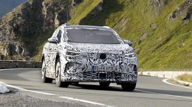 2021 Volkswagen ID.4 SUV  - front view passing