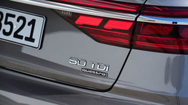 Audi's latest engine labelling system continues to baffle, though. The 3.0-litre diesel is the 50 TDI – 55 TFSI the petrol.