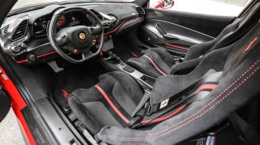 Ferrari 488 Pista interior wide angle