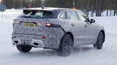 Jaguar F-Pace facelift spotted testing - rear view