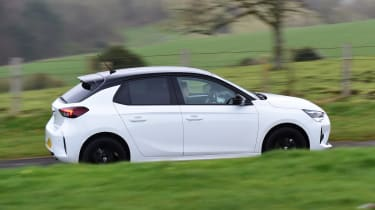 Vauxhall Corsa hatchback side panning