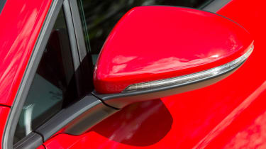 Indicators are integrated into the door mirrors