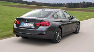 BMW 4 Series Gran Coupe rear 3/4 tracking