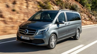 Mercedes V-Class MPV front tracking
