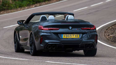 BMW M8 Convertible rear 3/4 cornering