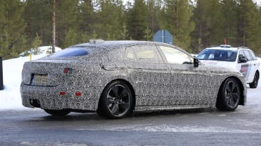 2021 electric jaguar xj testing in heavy camouflage | carbuyer
