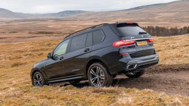 BMW X7 SUV hill descent