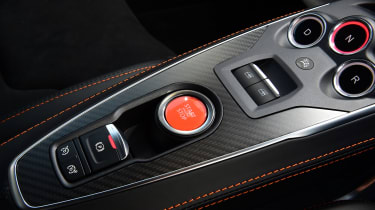 Alpine A110S lower centre console buttons