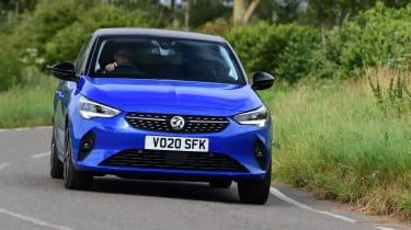 Vauxhall Corsa-e hatchback front driving