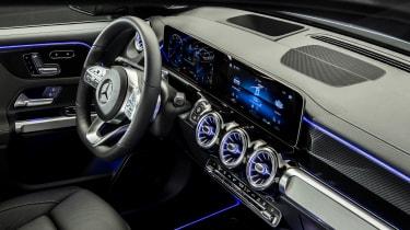 2019 Mercedes GLB - interior 3/4 view