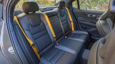 Volvo S60 T8 TwinEngine saloon rear seats