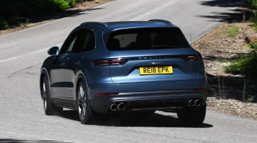 Porsche Cayenne S rear cornering shot