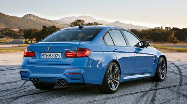 BMW M3 saloon 2014 rear quarter static