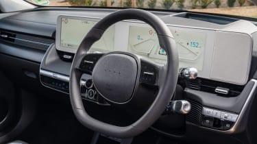 Hyundai Ioniq 5 drive - steering wheel