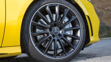 Larger multi-spoke alloy wheels come as part of the AMG Style Pack