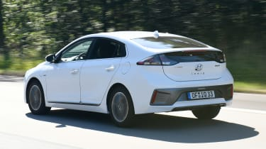 Hyundai Ioniq Plug-in Hybrid driving - rear view
