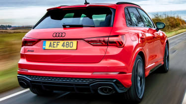 Audi RS Q3 driving - rear view