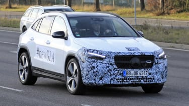 Mercedes GLA spy shot - front end