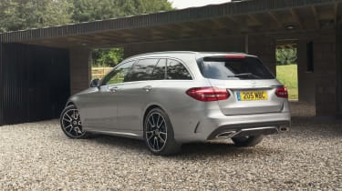 Mercedes C-Class Estate rear 3/4 static