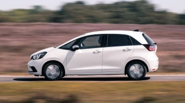 Honda Jazz hatchback side panning