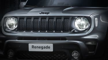 Jeep Renegade Night Eagle - grille close up
