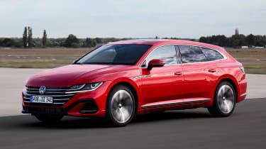 2020 Volkswagen Arteon Shooting Brake estate -hybrid front 3/4 view