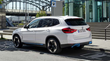 BMW iX3 parked in electric car bay