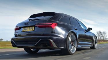 Audi RS6 Avant estate rear 3/4 driving