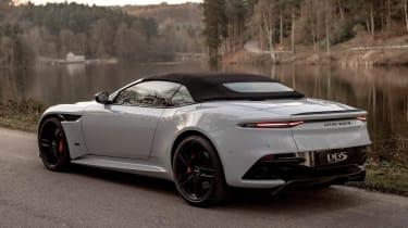 Aston Martin DBS Superleggera Volante - rear roof up