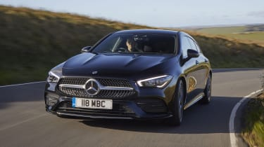 Mercedes CLA Shooting Brake cornering