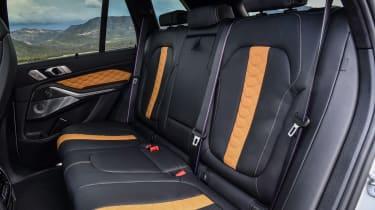 BMW X5 M SUV rear seats