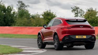 Aston Martin DBX SUV track rear cornering