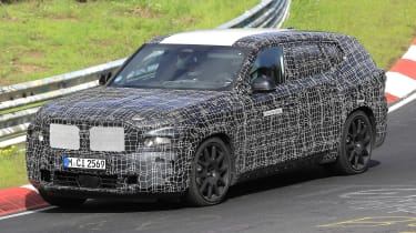 2022 BMW X8 SUV prototype - front 3/4 dynamic