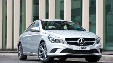 Ride quality is good, but some cars are better at handling rough surfaces than the CLA
