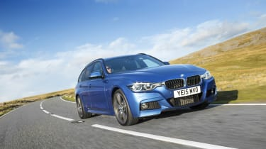 The 3 Series Touring costs £140 in annual road tax, so long as it costs under £40,000