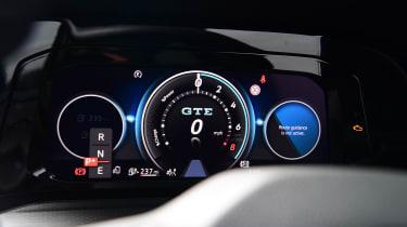 Volkswagen Golf GTE hatchback instrument gauges
