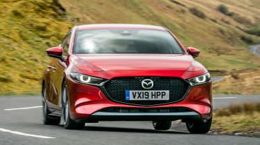 Mazda3 hatchback front cornering